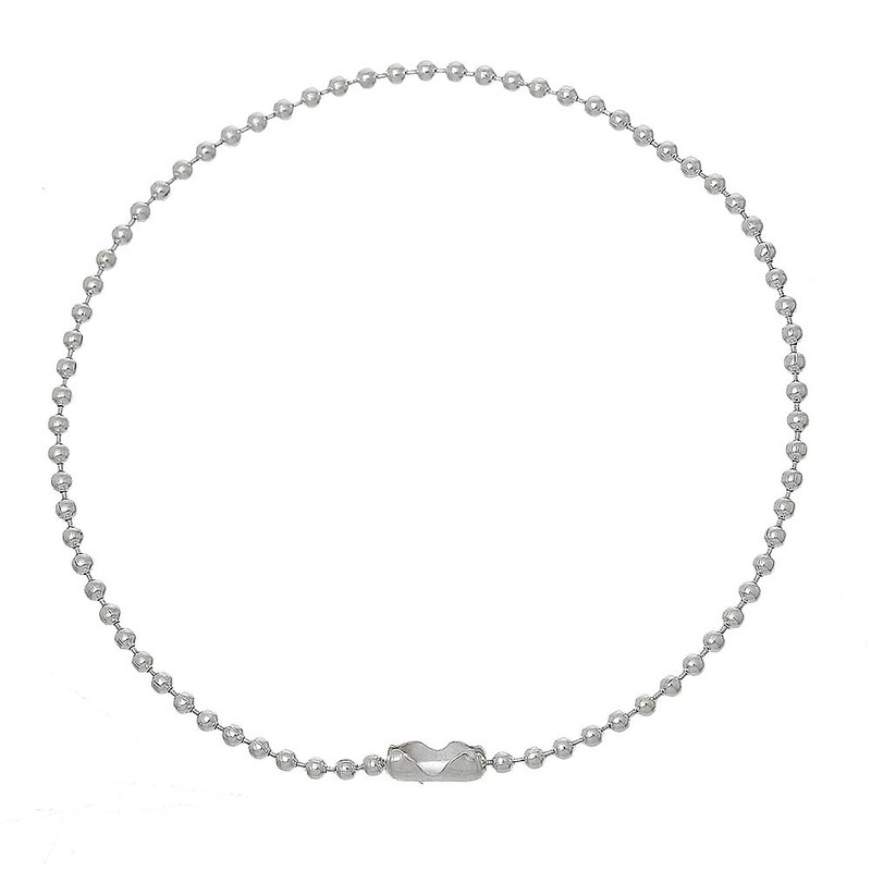 12 Pack Silver Plated 2mm Fine Ball Chain Bracelet 8-1/2 Inch RB60447