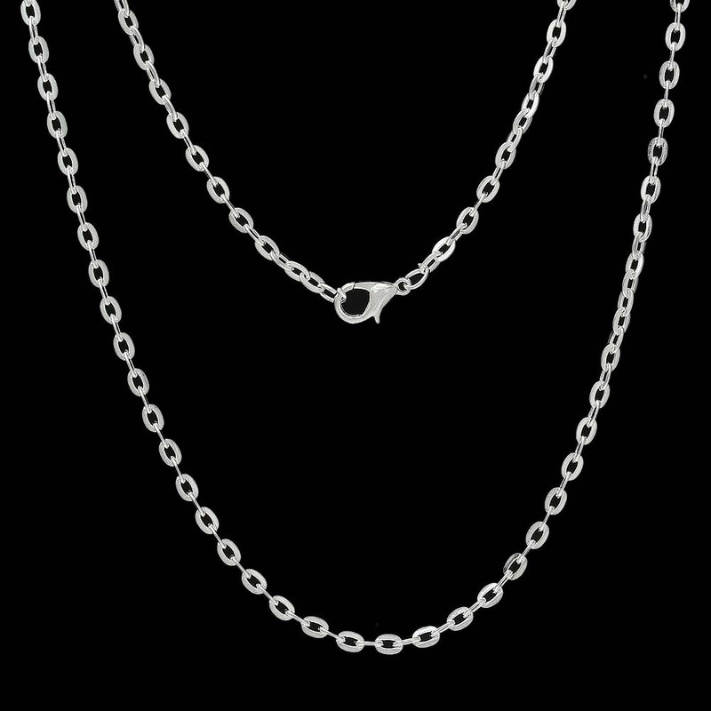12 Pack Silver Plated 3mm Cable Chain Necklace 30 Inch RB58860