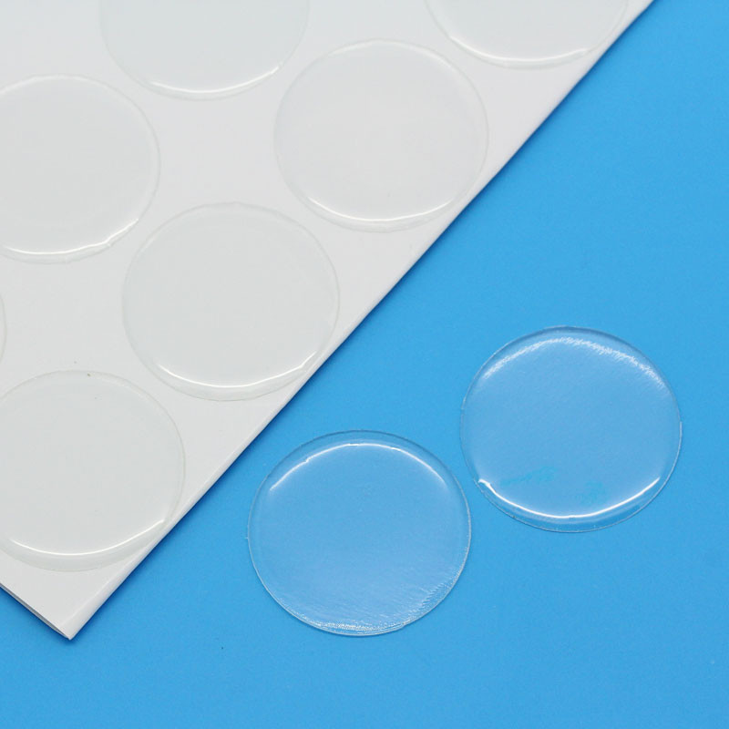 40 Clear Resin Cabochon Sticker Clear 30mm 1-1/8 Inch RB23629