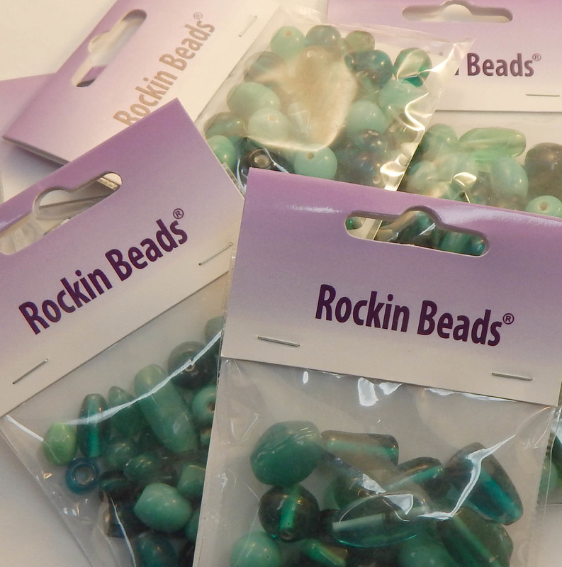 Teal Mix  Randum Lampwork Beads 1 Paackage