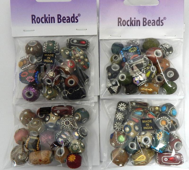 Amber Mix of Ceramic Pressed & Lampwork Glass Beads 40 grams Random