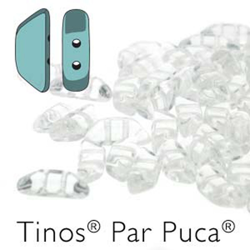 Crystal Tinos Par Puca Trapezoid 2-hole 30 Czech Glass Beads HP-TNS410-00030-30PC