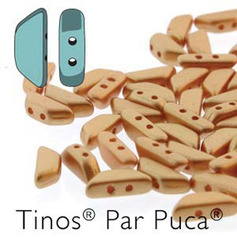 Patel Amber Tinos Par Puca Trapezoid 2-hole 30 Czech Glass Beads HP-TNS410-02010-25003-30PC