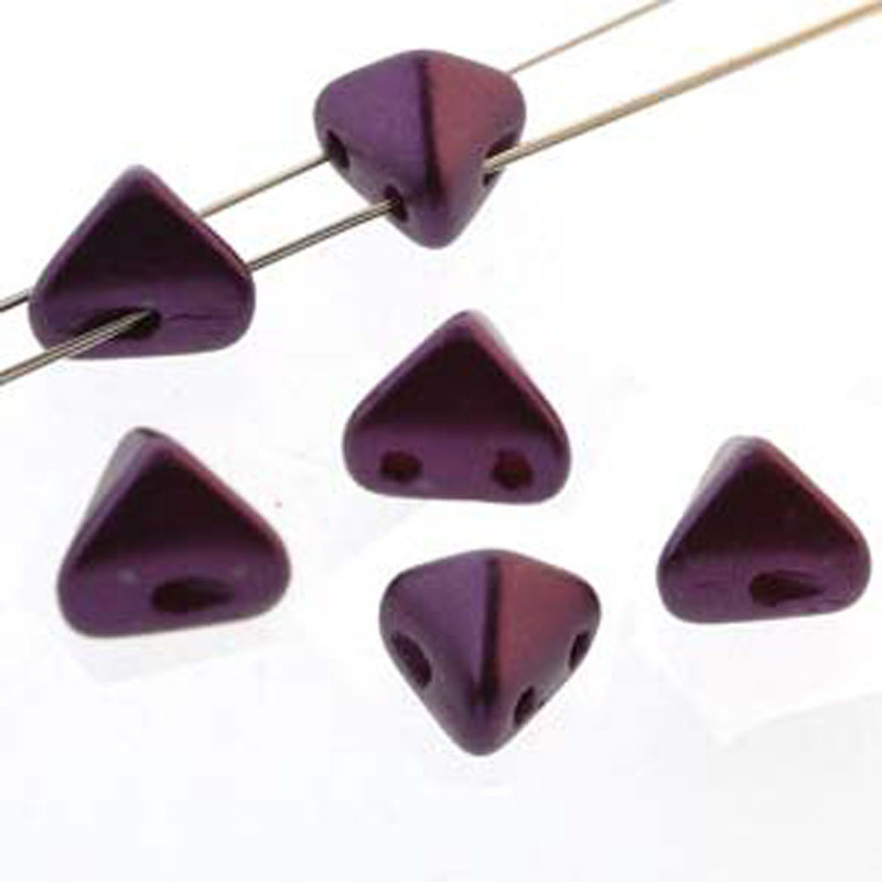 2 Hole Super Kheops 6mm Pastel Bordeaux 30 Czech Pressed Glass Beads