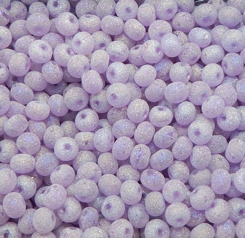 Purple AB Druzy Loose Glass Beads 7x8mm Rondelle 24 Gram Pack