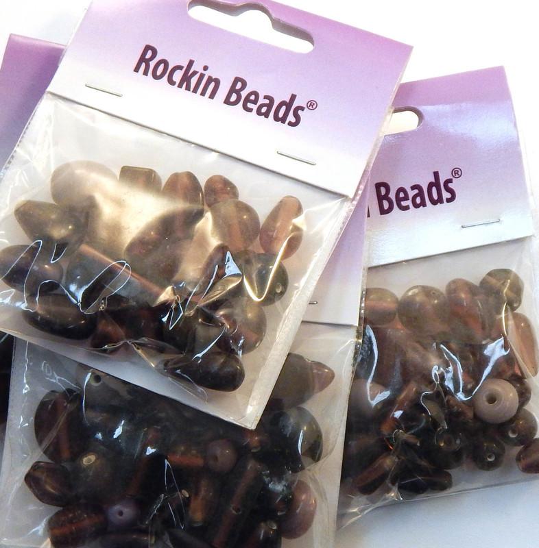 Purle Mix  Randum Lampwork Beads 35 gram Package