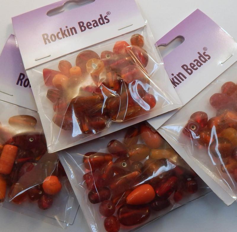 Orange Mix  Randum Lampwork Beads 35 gram Package