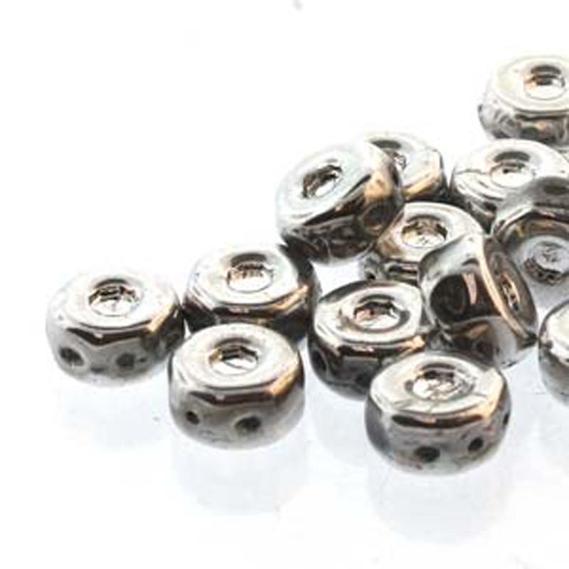 Octo 8x4mm 3-hole Coin Labrador 20 Beads