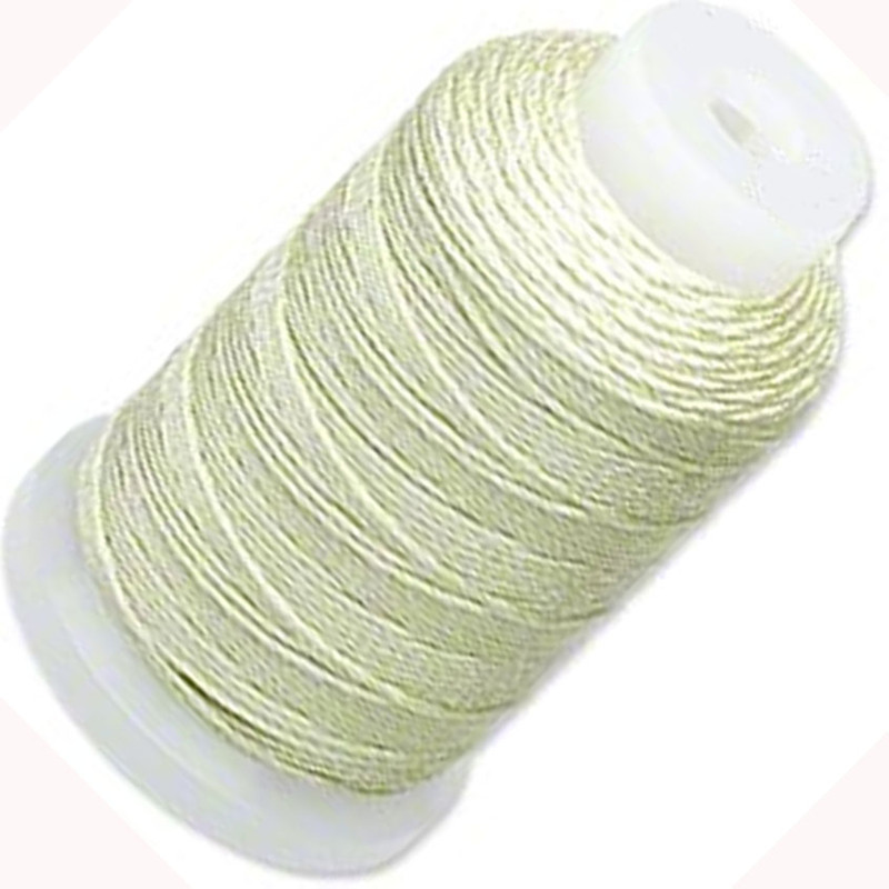 Silk Beading Thread Cord Size FF Light Green 0.015 Inch 0.38mm Spool 115 Yd 5101BS