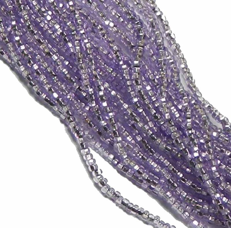 Amethyst Purple Solgel Silver Lined Preciosa Czech Glass 6/0 Seed Bead 6 String Hank SB6-78123