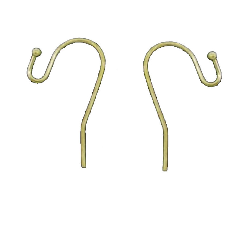 200 Earwires Gold Plated Copper Ear Wire Hooks Earring Findings Ball End 21x12mm 100 Pair RB04148