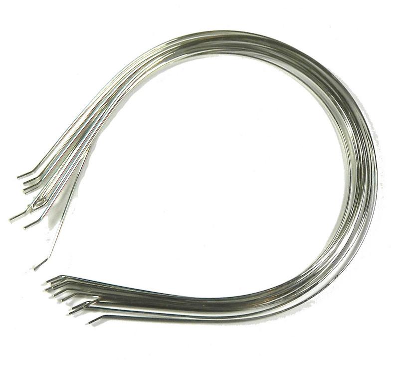 48 Steel/nickel Tone Metal Childs Headbands Hair Band Frames 5x6 Inch 3mm Wide,