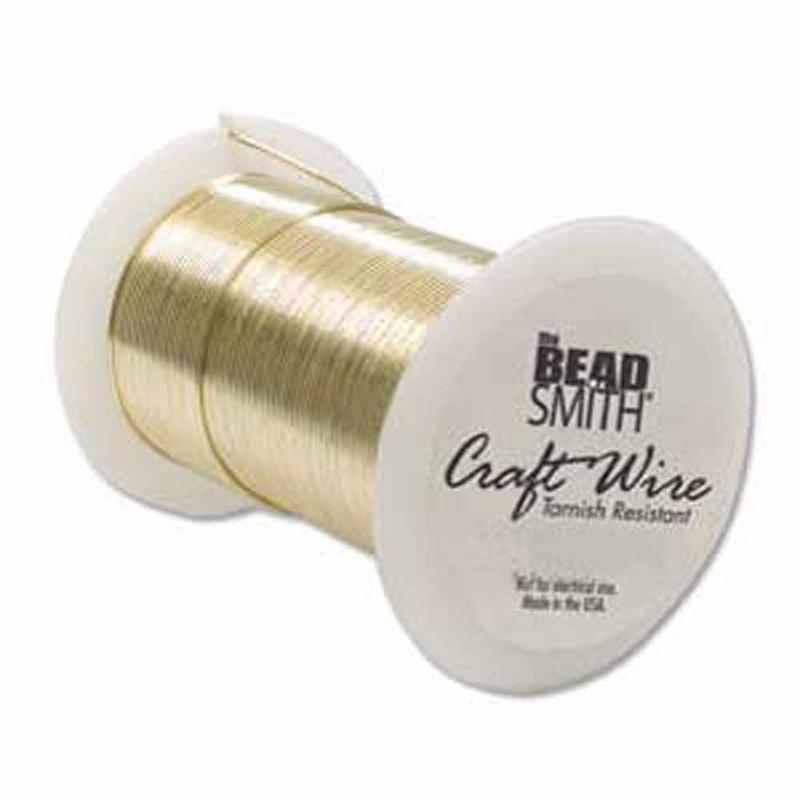 28 Gauge the Bead Smith Tarnish Resistant Craft Wire 34 Yards Gold