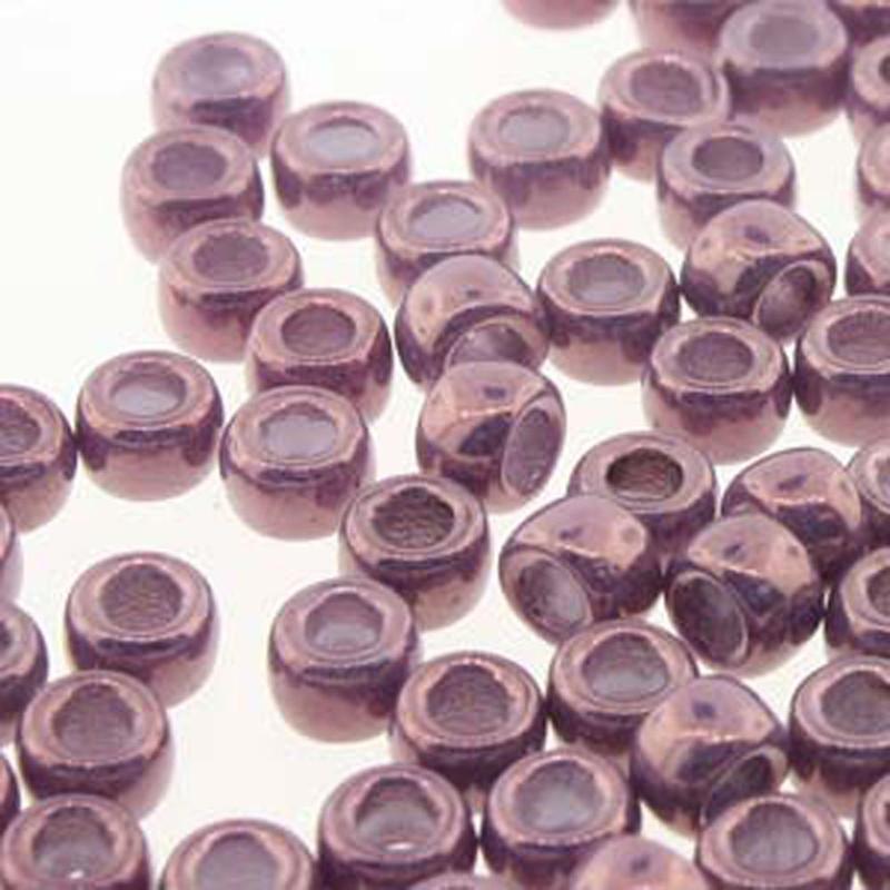 Matubo Czech Glass Seed Beads 8/0 3.1mm 50gr 1.3mm Hole Vaga on Chalk MTB08-03000-15726