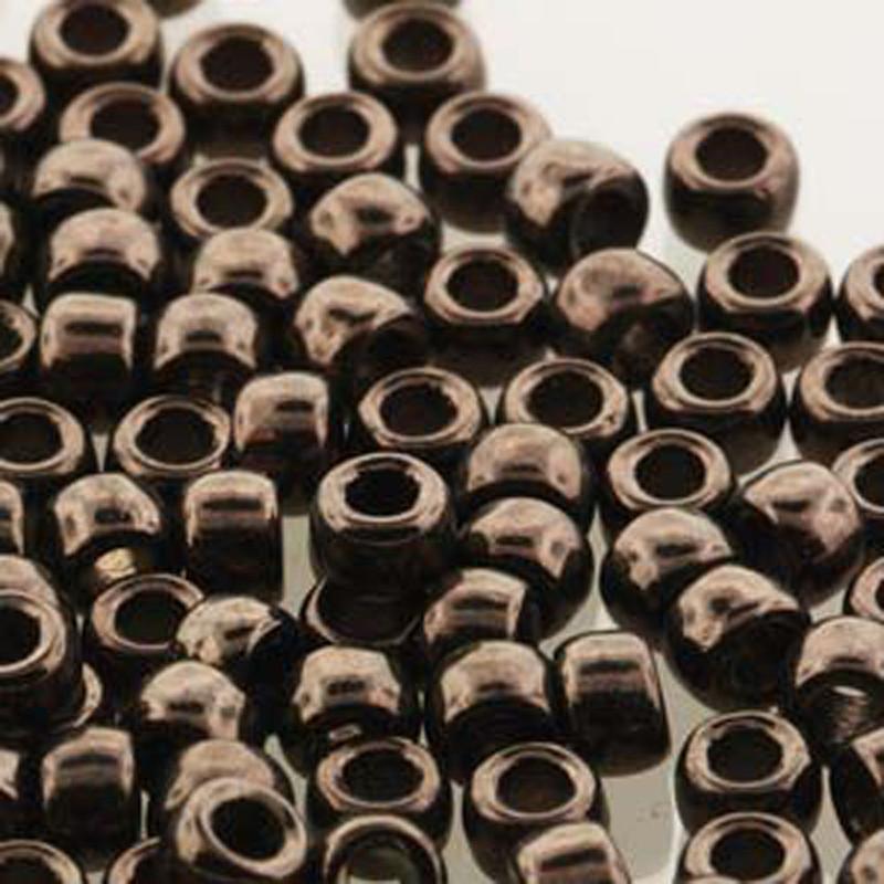 Matubo Czech Glass Seed Beads 8/0 3.1mm 50gr 1.3mm Hole Jet Copper Luster MTB08-23980-14435