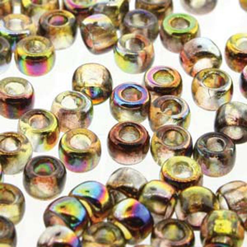 Matubo Czech Glass Seed Beads 8/0 3.1mm 50gr 1.3mm Hole Magic Yellow Brown MTB08-00030-95400