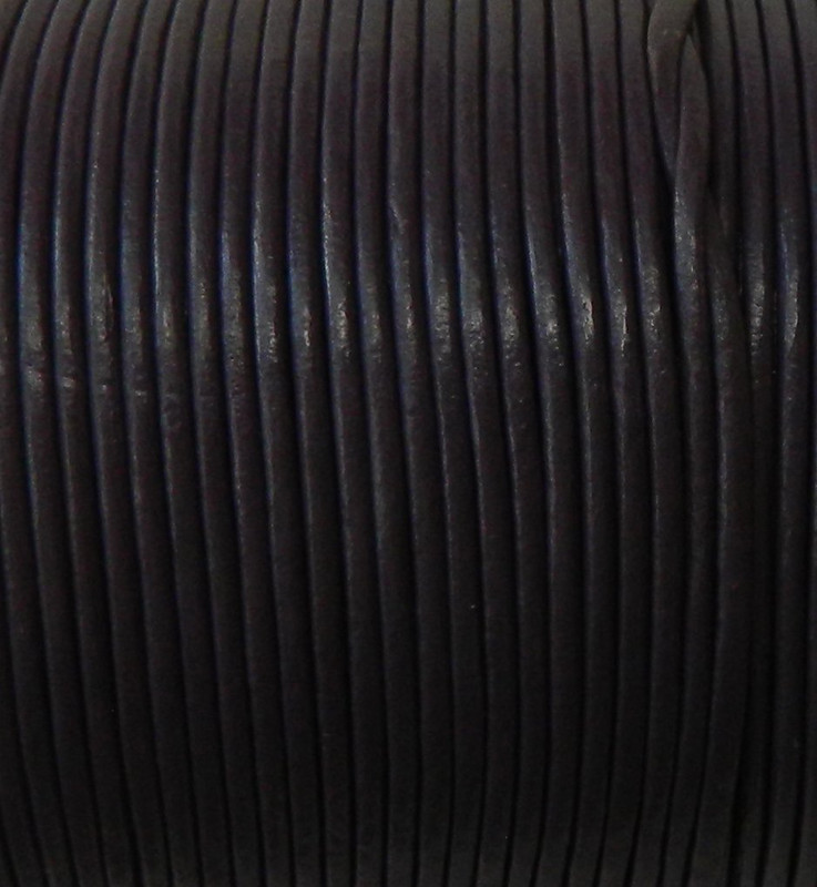 Imported India Leather Cord 2mm Round 5 Yards Brown 2