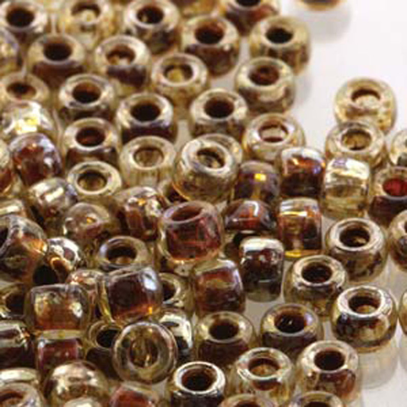 Matubo Czech Glass Seed Beads 8/0 3.1mm 50gr 1.3mm Hole Crystal Picasso MTB08-00030-43400
