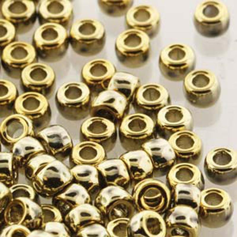 Matubo Czech Glass Seed Beads 8/0 3.1mm 50gr 1.3mm Hole Crystal Full Amber MTB08-00030-26440