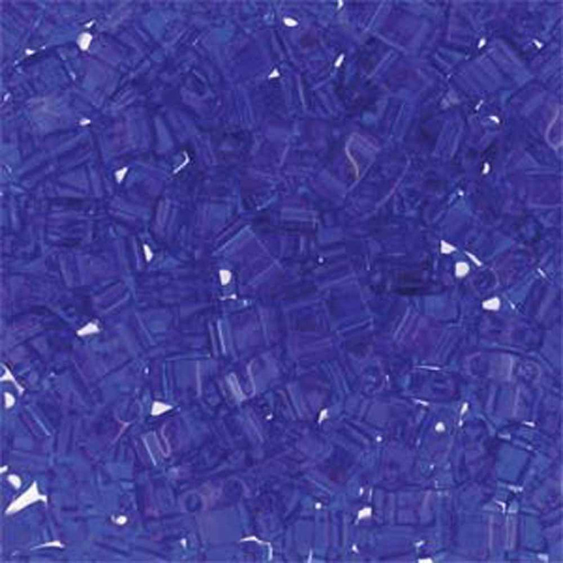 Colbalt Half Tila Beads 7.2 Gram Miuki Square 5mm 2 hole