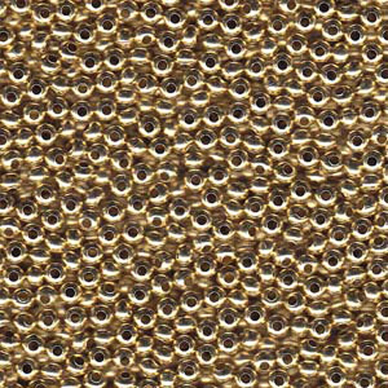 Tiny Yellow Brass Metal Seed Beads Tiny 15/0 Seed Bead Approx 14 Gram Tube