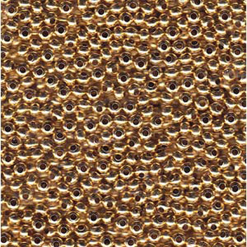 Tiny 24kt Gold Plated Metal Seed Beads Tiny 15/0 Seed Bead Approx 14 Gram Tube