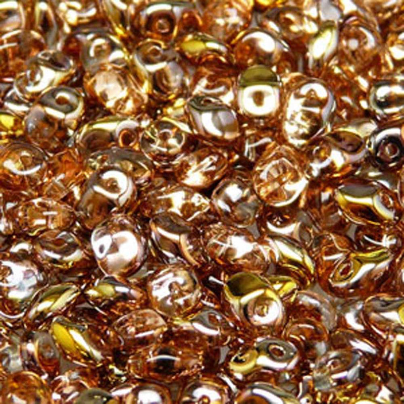 Crystal Capri Gold 2.5x5mm 1 ONE Hole Fringe Czech Glass Seed Beads 20gr