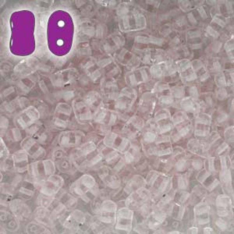 Rosaline BI-BO Czech Glass 2 hole Seed Beads 5.5x2.8mm 22gr