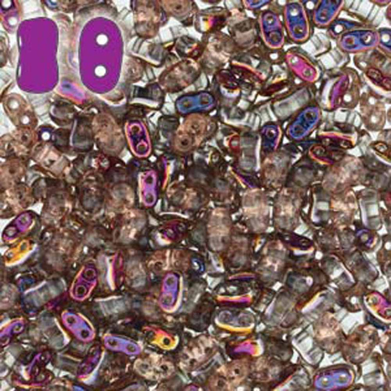 Crystal Sliperit BI-BO Czech Glass 2 hole Seed Beads 5.5x2.8mm 22gr