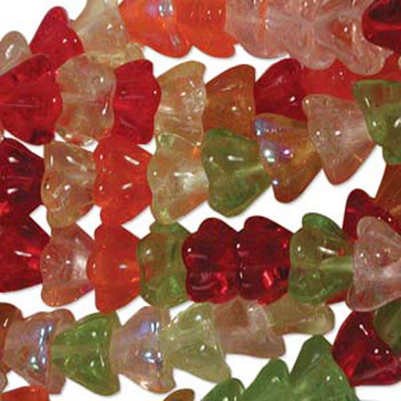 Tango Mix 10x13mm Flower Cone 45 Bead Cap Czech Glass Beads FLW1113MIX19