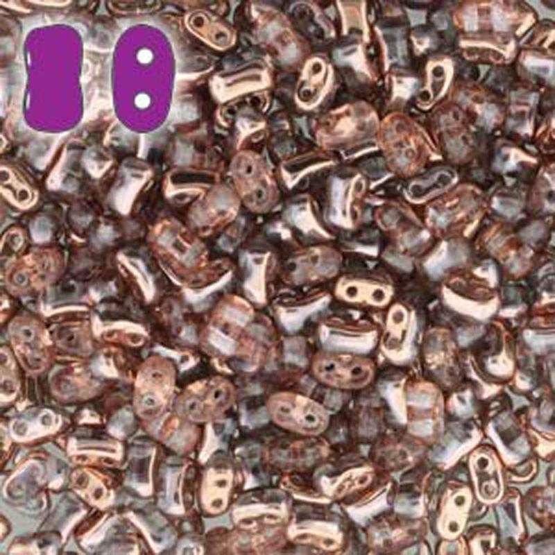 Rosaline Capri Gold BI-BO Czech Glass 2 hole Seed Beads 5.5x2.8mm 22gr