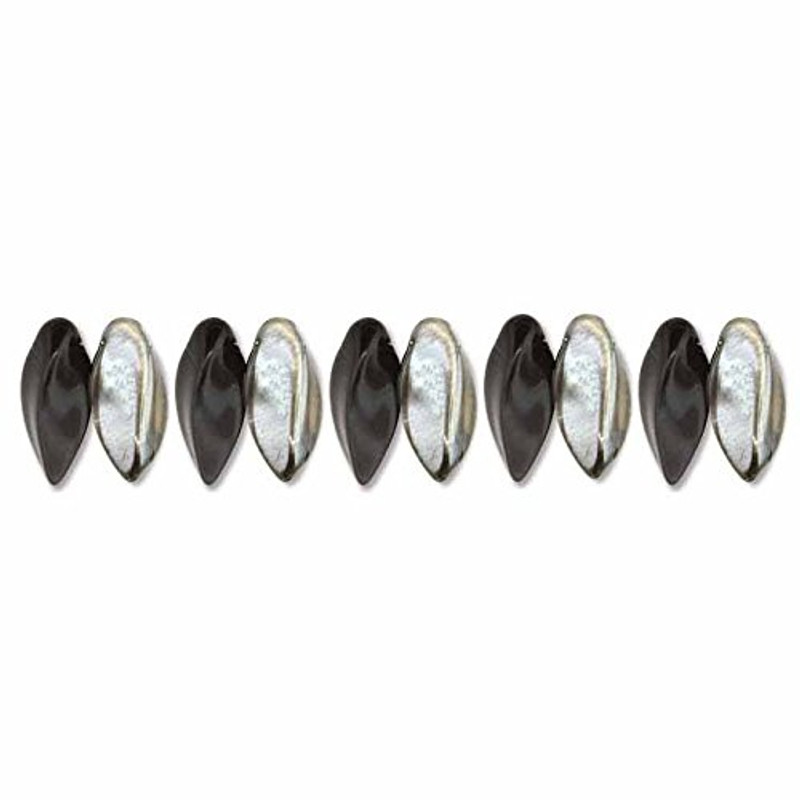 Jet Chrome Czech Glass Twist Beads 6x12mm Apprx 25 bead loose strand TWST612-J27401