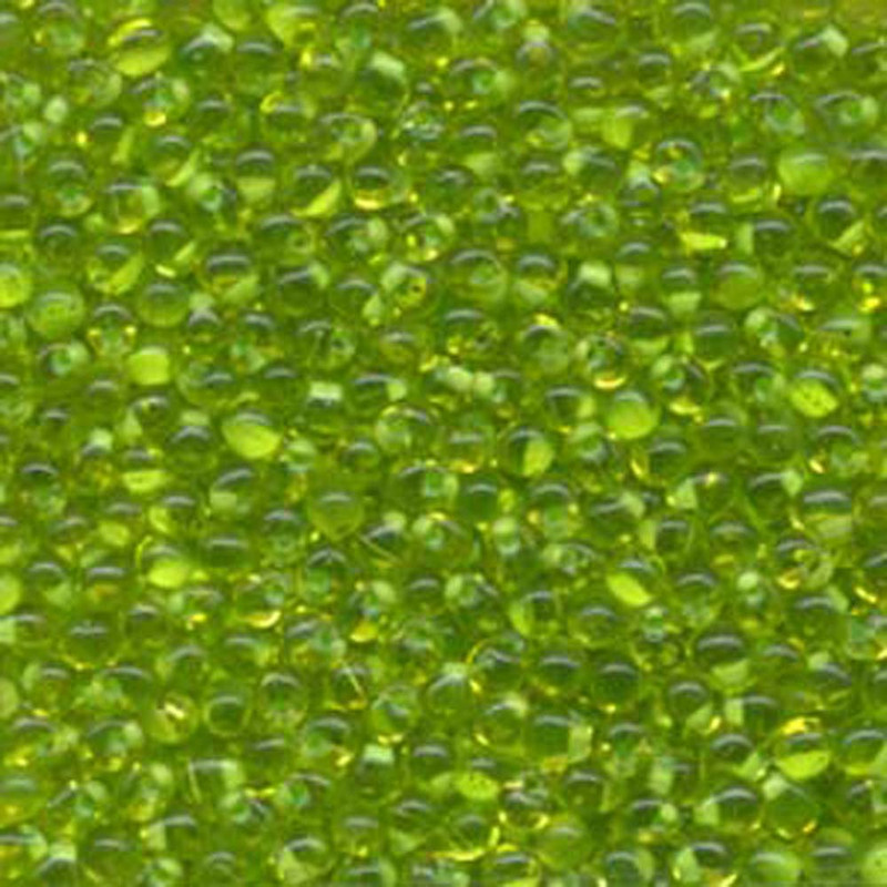 Mint Green Lined Lime Miyuki 3.4mm Fringe Seed Bead Glass Tear Drops 25 Gram