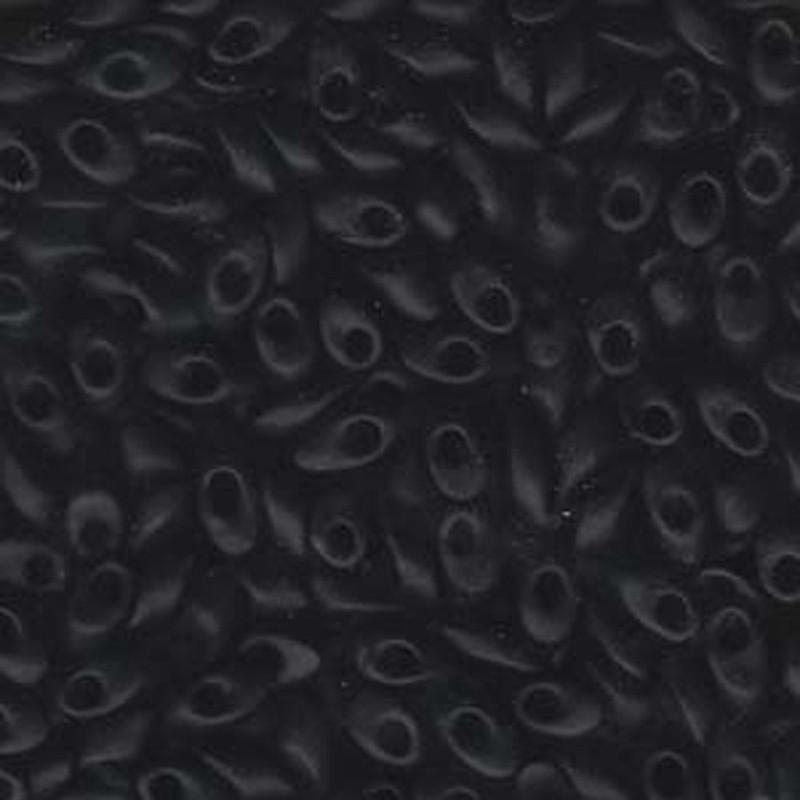 100 grams Black Mat 4x7mm Miyuki Long Magatama Glass Fringe Beads LMA-401F