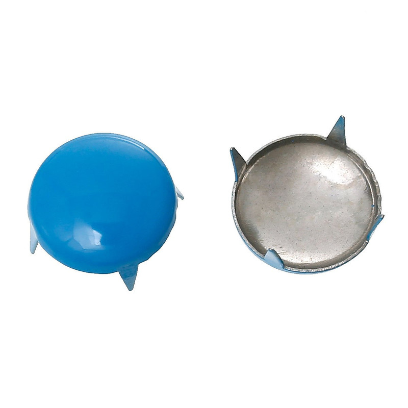 250 Spike Rivets Studs Round Silver Tone Painted Blue 12mm 1/2 Inch