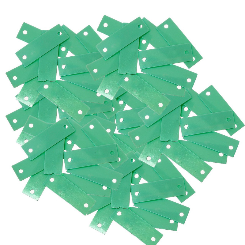 1500 Blueish Green Rectangle Sequin with Paillette Sewing/embellishment Findings 19mm