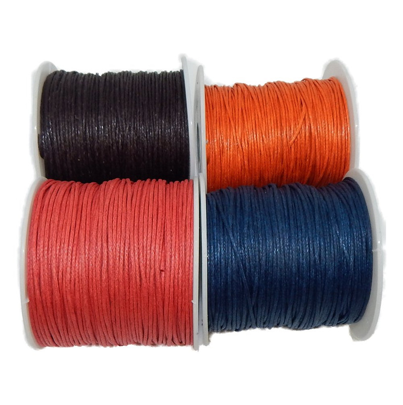 1mm Waxed Cotton Jewelry Macrame Craft Cord 300 Yards Wolven Round