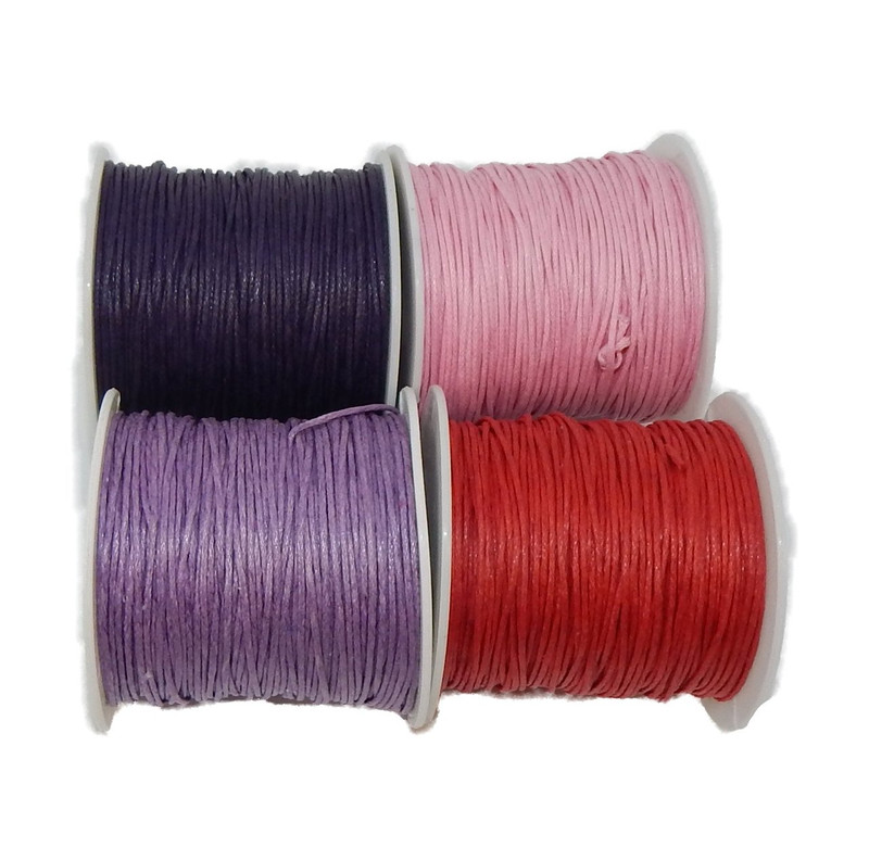 1mm Waxed Cotton Jewelry Macrame Craft Cord 300 Yards Wolven Round 2