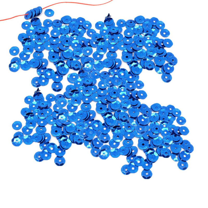 4000 Blue Sequin with Paillette Sewing/embellishment Findings 8mm