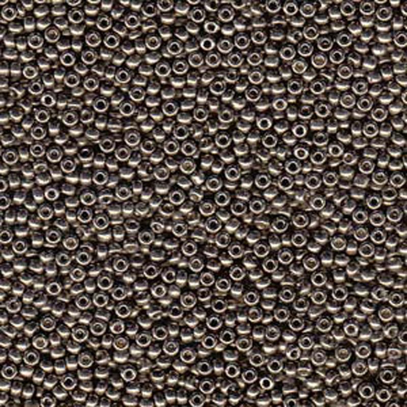 Pewter 22 Grams Miyuki 8/0 Seed Bead Duracoat Galvanized 22 Gram