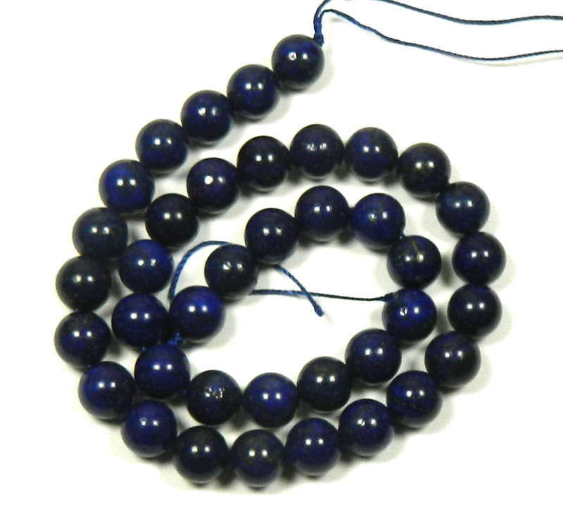 "10mm Lapis Lazuli Round Beads 40cm 15"" Stone"