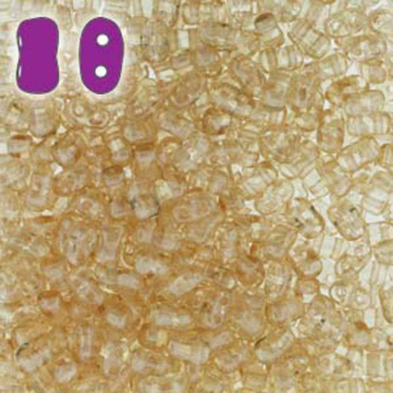 Crystal Orange Luster BI-BO Czech Glass 2 hole Seed Beads 5.5x2.8mm 22gr