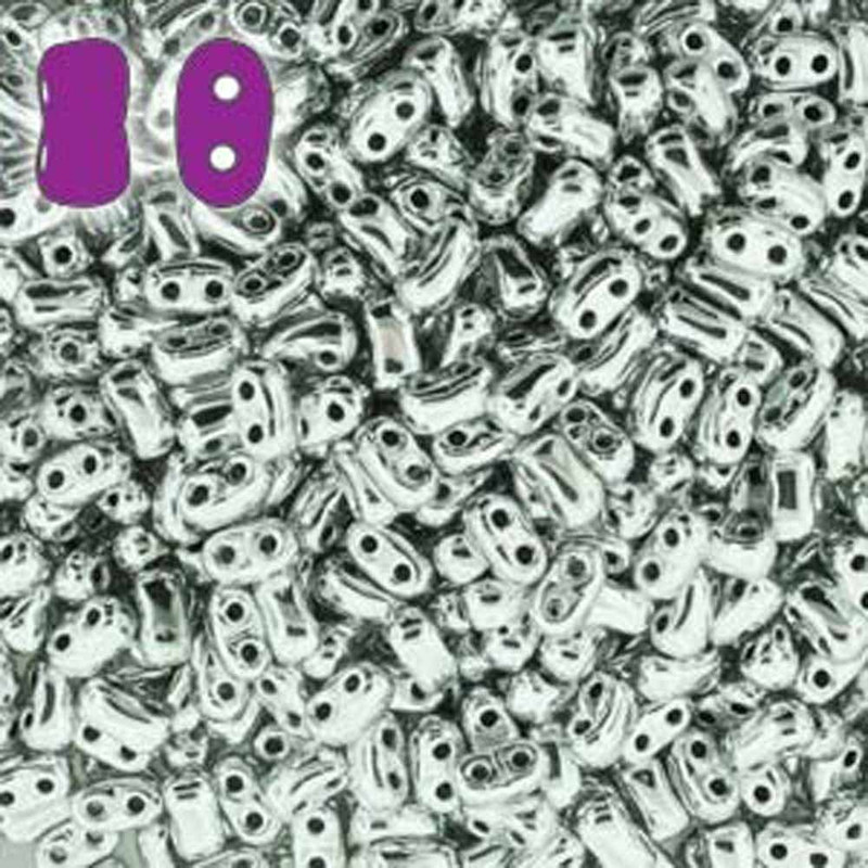 Full Labrador BI-BO Czech Glass 2 hole Seed Beads 5.5x2.8mm 22gr