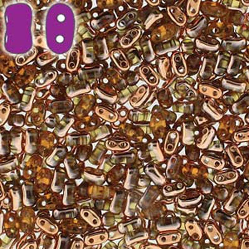 Topa Capri Gold BI-BO Czech Glass 2 hole Seed Beads 5.5x2.8mm 22gr