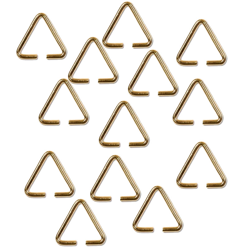 Triangle Bail 13 7mm Gold Plated Brass Findings Thick 12 Guage 144pc BL01GP