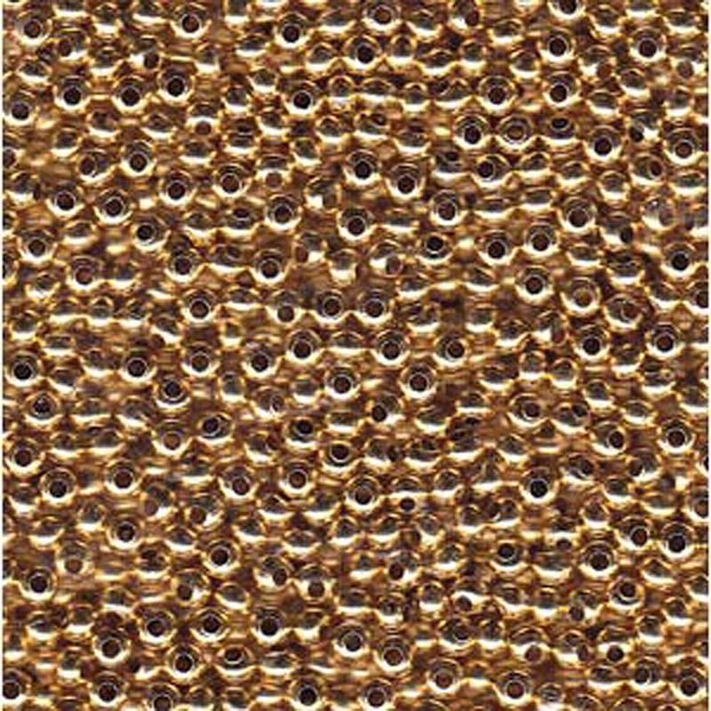Genuine Metal Seed Beads 8/0 Gold Tone Gilding Metal 38 Grams