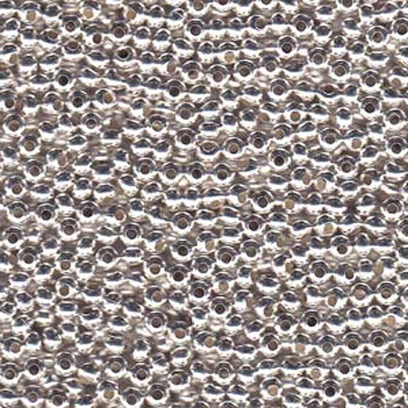 Genuine Metal Seed Beads 8/0 Silver Plated 39 Grams
