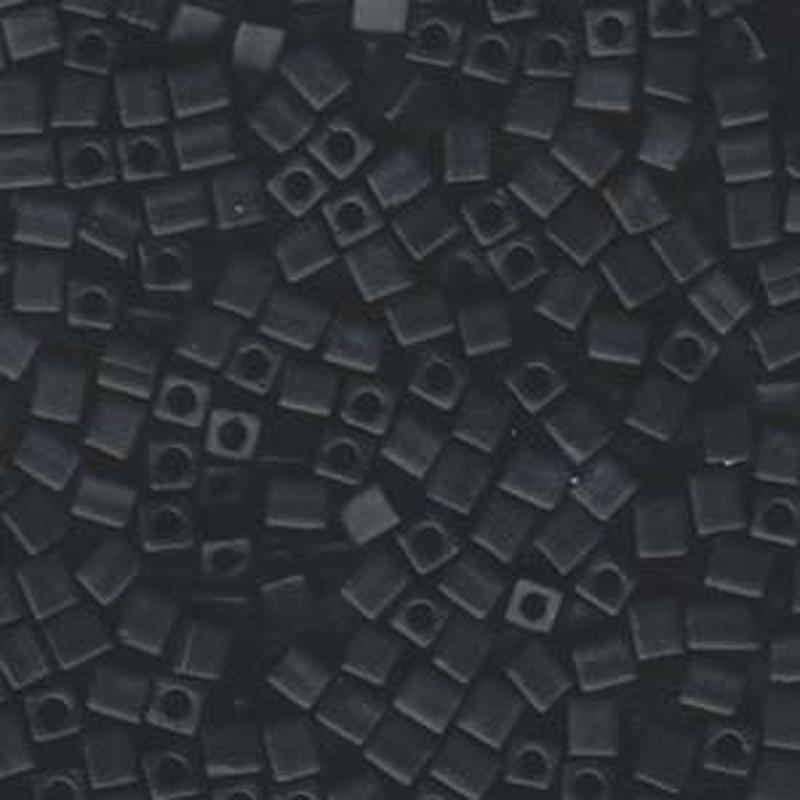 20Gr Black Opaque Matte Miyuki 4mm Square Cube Glass Seed Beads