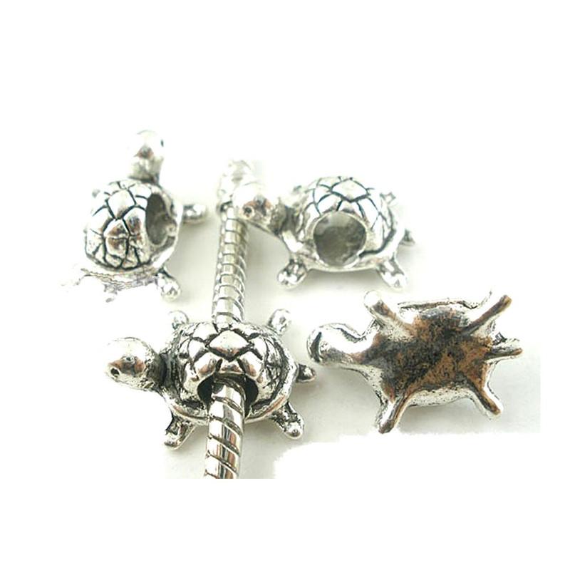 Rockin Beads 19 Turtle Charm Beads 15x11mm with 4.5mm Hole