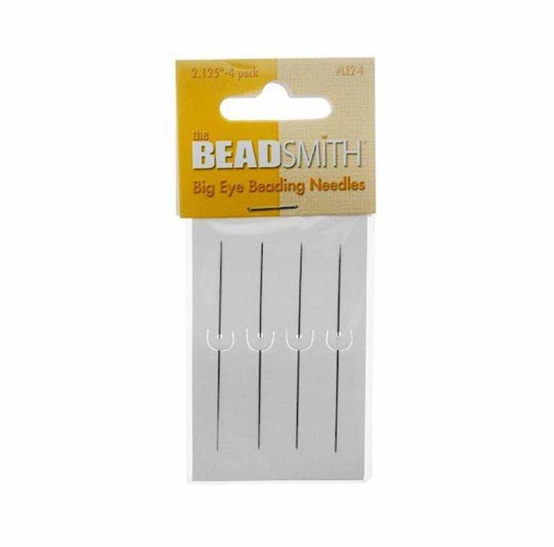 Big Eye Needles Beading (Set Of 4) - Easiest Needle To Thread